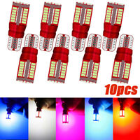 10X T10 3014 57SMD LED W5W Car Marker Light Parking Lamp Engine Wedge Bulb YK