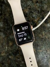 Apple Watch Series 3 38mm Gold Aluminium Case with Pink Sand Sport Band (GPS) -