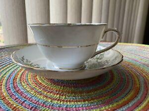 "Tuscan English Fine China Teacup and Saucer ""Plant"""