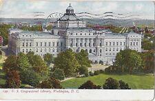 Vintage Postcard - US Congressional Library Washington D.C.  1908