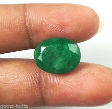 Natural Green Emerald Oval Cut Faceted Emerald Gem For Ring 8 Ct+ qz ~ GEM EDH