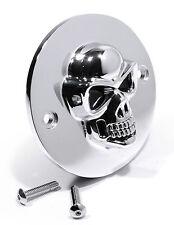 3D Skull Ignition Point Cover Chrom für Harley Davidson Totenkopf Zündung 2-Loch