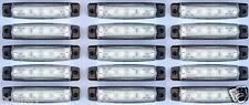 x 15 x 12v 6 luces LED INTERMITENTE LATERAL BLANCO Iveco Volvo DAF Scania Man