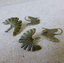 6 pcs Antique Bronze Earwires earhooks wings, loop on the back