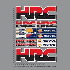 2453 - HRC Repsol Honda Motorcycle Stickers Decals Set A4 Sheet - Fireblade CBR