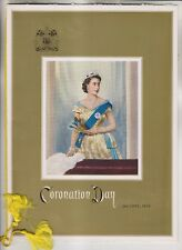 JUNE 2nd 1953 CORONATION DAY MENU - CHATEAU FRONTENAC QUEBEC CANADA