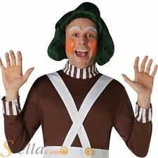 Adult Oompa Loompa Wig Fancy Dress Chocolate Factory Costume Accessory