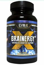 EVO-X Health Products Brainergy Nootropic 120 Capsules - SEALED FREE SHIPPING !!