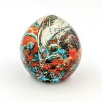 Large Exquisite Alluring Shattered Cracked Broken Swirled Art Glass Paperweight