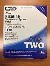 14 Rugby Nicotine Transdermal System Step 2 Patches 14mg Exp: 02/2020
