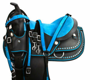 """Synthetic Western Barrel Racing Beautiful Horse Saddle Size (12"""" To 18"""") Inch"""