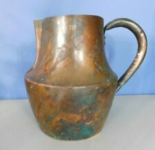 """VINTAGE COPPER FRENCH WATER JUG, PITCHER MARKED """"12"""", HOLDS APPROX 10 CUPS, 7.5"""""""