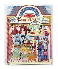 Pet Shop Puffy Sticker Set 115 Reusable Activity Book Kids Toddler Toys Play New