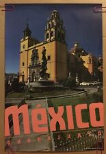 Mexico Guatemala Vintage Travel Poster 1980's Pin-Up 80's Ministry Of Tourism