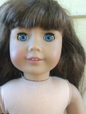 American Girl Doll 18 Inch Brunette Blue Sleepy Eyes 2 Front Teeth FAB! FACE!