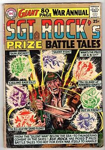 Sgt. Rock's Prize Battle Tales #1, Very Good Condition