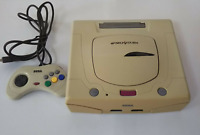 Sega Saturn SS Console & Controller White / Mist Gray Japan HST-3220