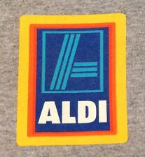 ALDI GROCERY STORE WORK UNIFORM SHIRT Gray Long Sleeve Cotton Adult Small