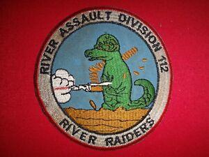 Vietnam War Patch US Navy RIVER ASSAULT FLOTILLA 112 river RAIDERS