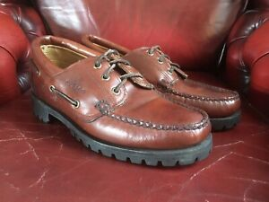 SEBAGO ACADIA LEATHER BOAT SHOE Size 7.5 UK, 8W US 41.5 EU