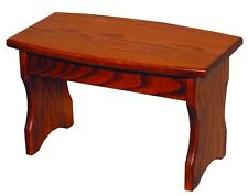 Children's Furniture and Toys - Child's Oak Curved Front Bench - Amish