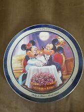Bradford Disney's Mickey and Minnie's Moonlit Dinner Romantic Moments Plate