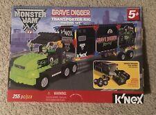 K'nex Monster Jam GraveDigger Racing Transporter Truck Rig Building Set Unopened