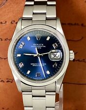 Rolex Oyster Perpetual Date 34mm Edelstahl Automatik Ref. 15200 Blue Dial
