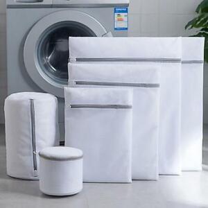 White Zipper Bag Mesh Laundry Bags Clothes Washing Machines Wash Lingerie Bags