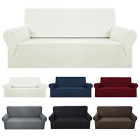 1-4 Seater Sofa Couch Slipcover Stretch Covers Elastic Settee Protector Fit UK