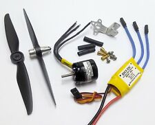 037wpEa:1 set BL Motor KV4000 w/ ESC & 2 Props 6x3 for RC Airplane,Jet, FW:500g