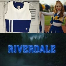 Real Cheerleading Uniform Vest Plain Riverdale Blue 32�Chest