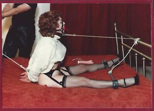 1970's Vintage Risque Photo~Tied Up Kidnapped Pinup Stockings High Heels Sweater
