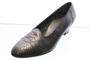 Ara Pumps schwarz Leder Schlangenoptik Schuhweite H Gr. 38,5 (UK 5,5)