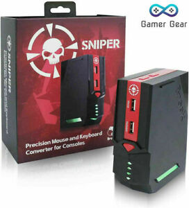 Brook Mouse & Keyboard Converter, Sniper FPS Adapter PS4 PS3 Xbox, switch