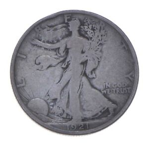 KEY DATE - 1921-D Walking Liberty Silver Half Dollar - Rare *641