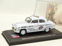 Ixo Presse 1/43 - Simca Aronde Elysee des Records 1957