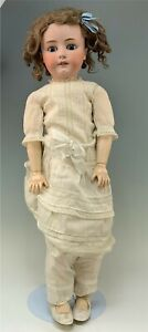 """28"""" Antique German Bisque Head Doll Jointed Composition Body"""