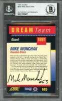 1991 score dream team employee autographs MIKE MUNCHAK oilers BAS Authentic