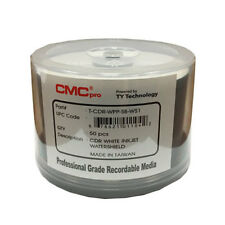 400 CMC Pro Taiyo Yuden WaterShield 52X CD-R White Inkjet Hub Printable Media