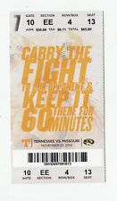 2014 TENNESSEE VOLS VS MISSOURI TIGERS MIZZOU TICKET STUB 11/22 COLLEGE FOOTBALL