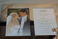 Lenox True Love Double Invitation Wedding Frame 5 x 7 Silverplated