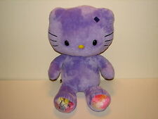 Sanrio Hello Kitty Build A Bear Plush Stuffed Doll Purple Rainbow Love Feet 18""