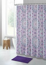 Purple Seafoam Floral Design PEVA Shower Curtain Liner Odorless Eco-Friendly