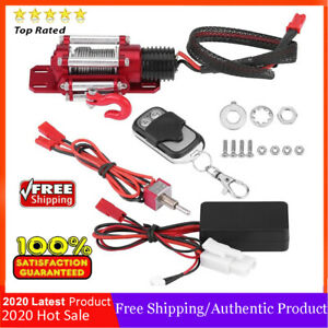 Metal Winch Remote Controller for 1/10 Scale RC Model Vehicle Crawler Car