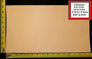 """16"""" x 9"""" Vegetable Tanned Cowhide 9 to 10 oz. Tooling Leather Piece, 1st. Qlty"""