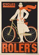 Los ciclos de Roler, Francia, 1925 por Jean Adrien Mercier, Art Deco póster de ciclismo