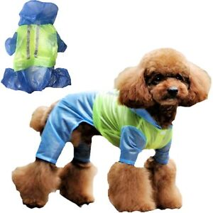 LIGHTWEIGHT Dog RainCoat Rainwear WATERPROOF Rain Jacket Coat Reflective XXS - L