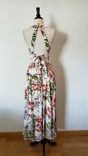 Anthropologie Maxi Dress New Size Small Open Tie Back Floral Halter Boho