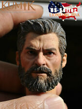 1/6 Wolverine Logan Head Sculpt For Hugh Jackman X-Men HotToys Phicen IN STOCK